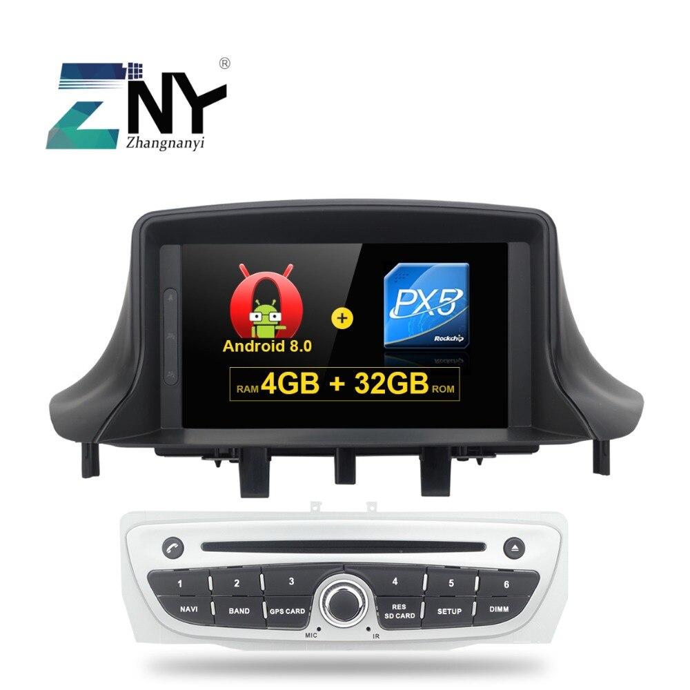 4 gb 7 IPS Affichage Android 8.0 Voiture GPS Stéréo Pour Renault Megane 3 Fluence Auto Radio FM RDS wiFi Bluetooth DVD Vidéo Navigation