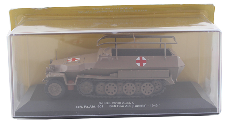 IXO 1/72 Sd.Kfz.251/8 Half track armored vehicle Alloy collection model Holiday gift ixo 1 43 model of heavy duty wheeled armored vehicle in czechoslovakia sd kfz 234 2 alloy model collection model holiday gift