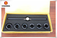 New! Titanium Alloy 5537 Grooved Watch Case Back Opening Wrench Key and Die Chuck Set