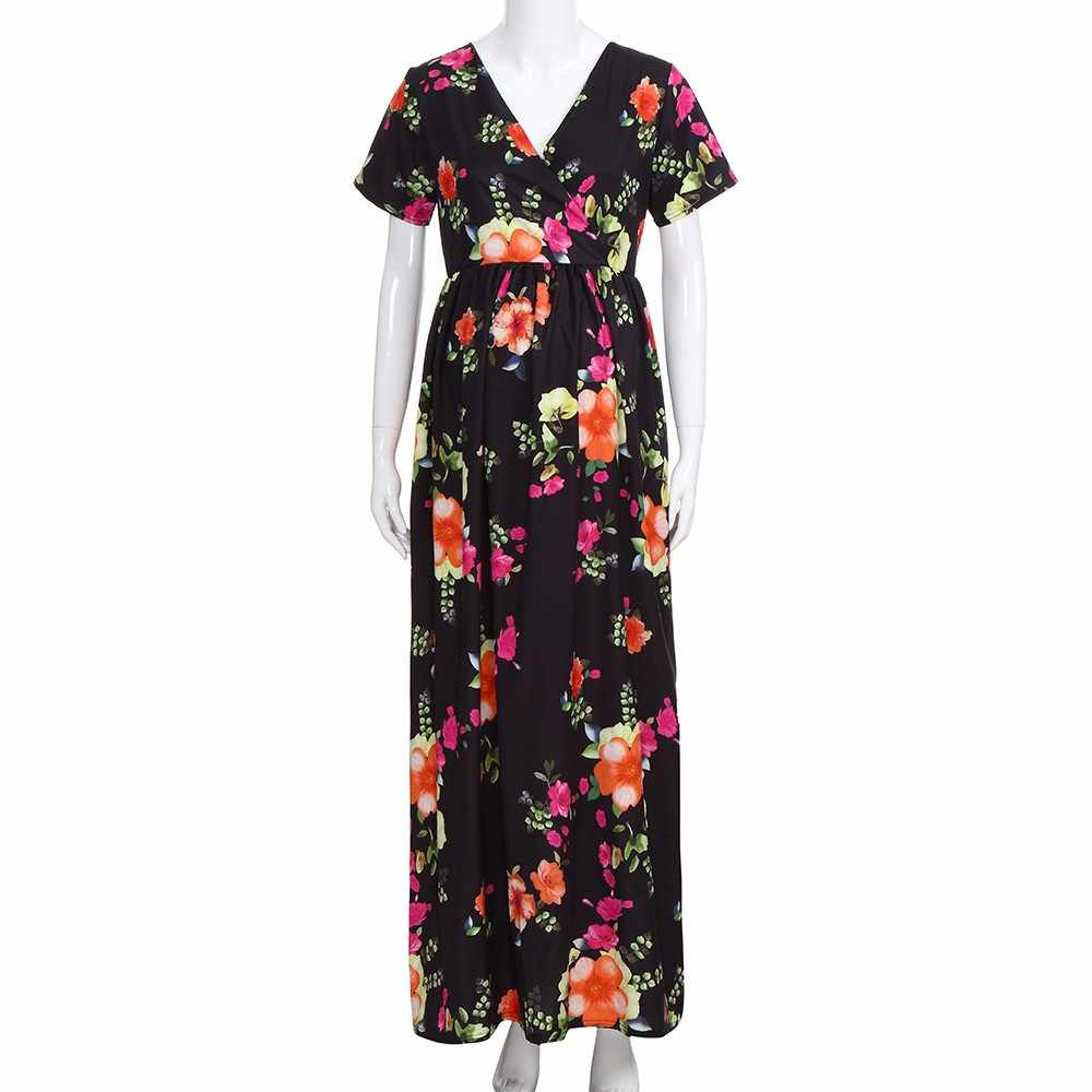 244924c1907a6 ... Telotuny maternity clothes Bohemian Floral Printing nursing dress  maternity dresses for photo shoot Casual summer dress ...