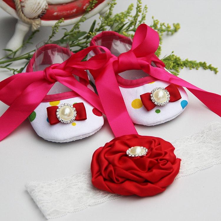 Újszülött baba cipő márka, kisgyermek csecsemő szövet baba csizma fejpánt készlet, kislány baba babakocsi baba lány moccs