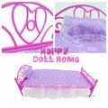 Mini кукла кровать мебель 3 складах ( кукла кровать + подушка + простыня ) для Barbie кукла дом младенцы игрушки
