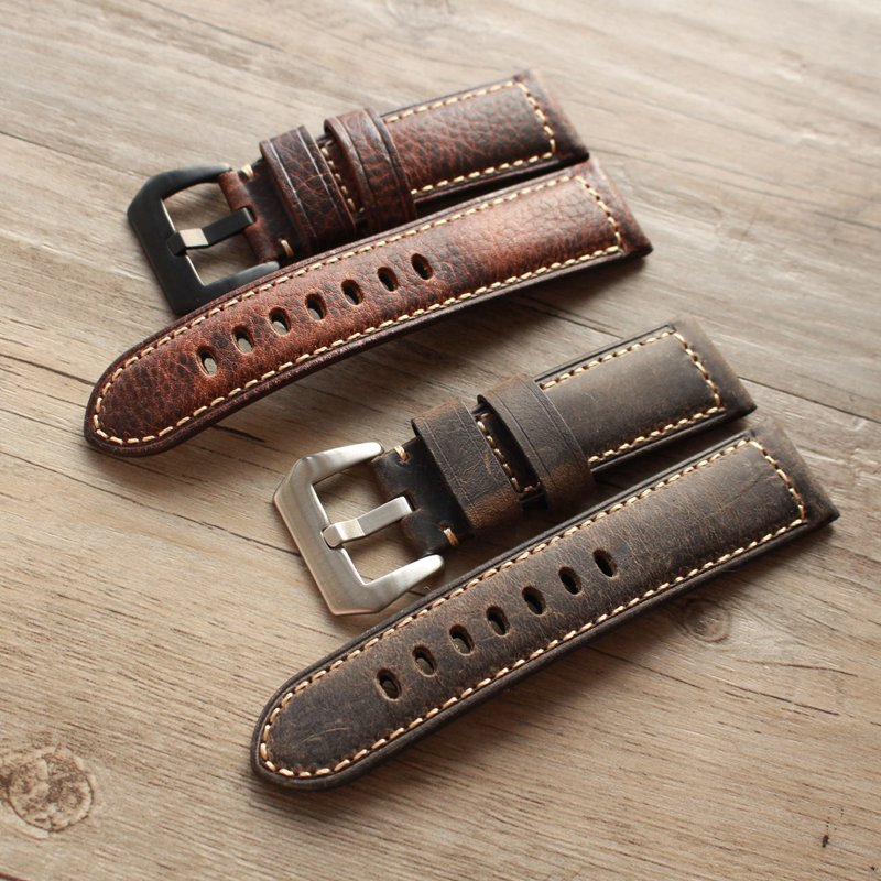20 22 24 26mm Men high quality Retro Genuine leather strap watchband for fossil FTW1114/FS5151 for <font><b>PAM</b></font> Universal watch <font><b>bracelet</b></font> image
