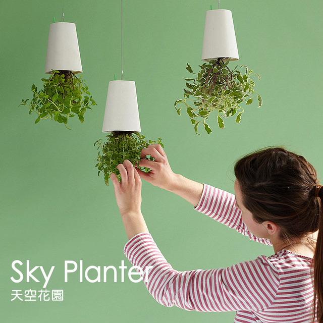 Free shipping Sky Planter Upside-Down Plant Pot Novelty Gift