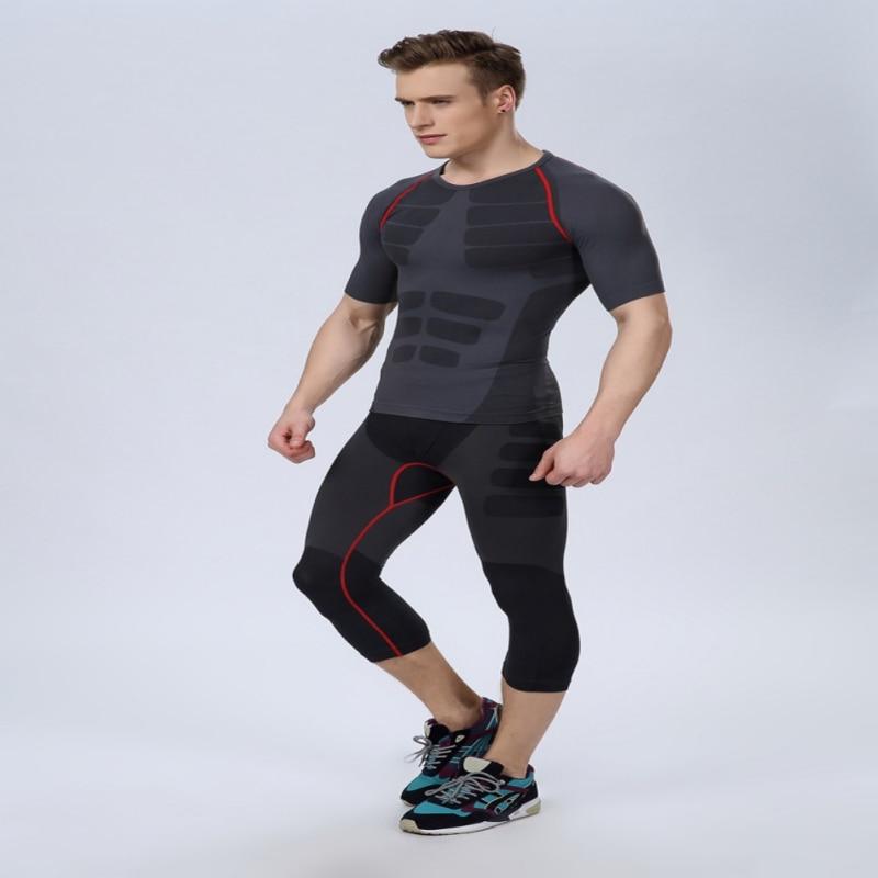 Sportbekleidung 2018new Nahtlose Männer Athletisch Hosen Kompression Turnhalle Sport Ausgestattet Basis Schichten Haut Strumpfhosen Quell Sommer Durst