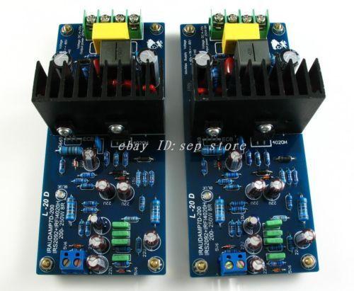 Hifi-store NEW DIY KIT LJM L20D IRS2092 Top Class D amplifier Kit 200-250W *2 8ohm