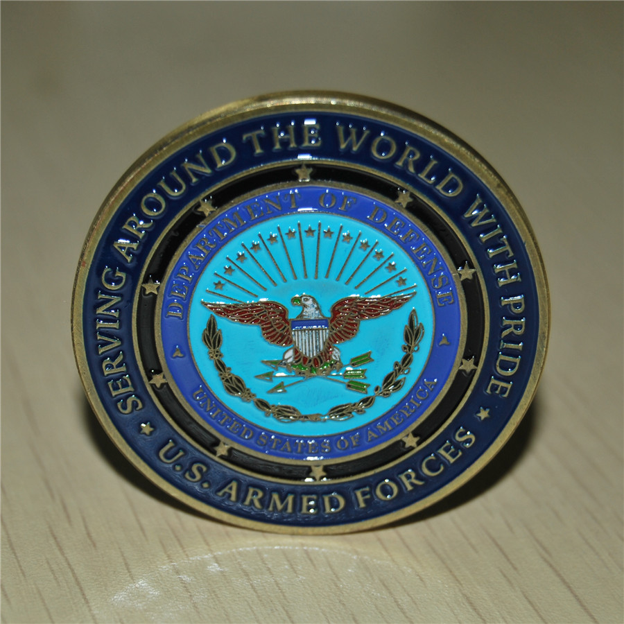 200pcs/lot Proud Military Family / U.S. Armed Forces - Challenge Coin