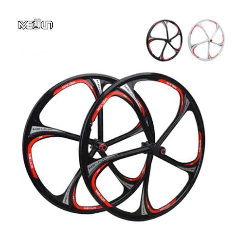 """MTB Rim 5spokes 6 spokes wheels 26"""" inches Mountain Bicycle Wheel Disc Brake bike rims mountain bike wheels magnesium alloy 26"""