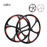 MTB Rim 5spokes 6 spokes wheels 26 inches Mountain Bicycle Wheel Disc Brake bike rims mountain bike wheels magnesium alloy 26