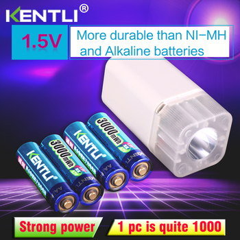 4pcs KENTLI 1.5v 3000mWh Li-polymer li-ion lithium rechargeable AA battery batteries + 4 slots Charger with LED flashlight 4pcs lot 26650 batteries 10000mah 3 7 v battery lithium ion rechargeable batteries and led flashlight free delivery