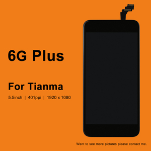 Image 1 - 10 adet Tianma kalite 5.5 inç LCD ekran iphone 6 artı LCD ekran dokunmatik ekran cam sayısallaştırıcı montaj
