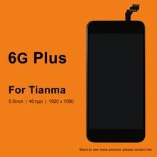 10 unidades de pantalla LCD Tianma de 5,5 pulgadas para iphone 6 Plus, pantalla LCD con pantalla táctil, montaje de digitalizador de cristal