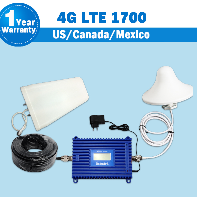 Full Set 3G 4G LTE 1700 FDD Band 4 Cellphone Signal Booster 70dB Gain GSM UMTS 1700mhz Mobile Cellular Repeater Amplifier S35