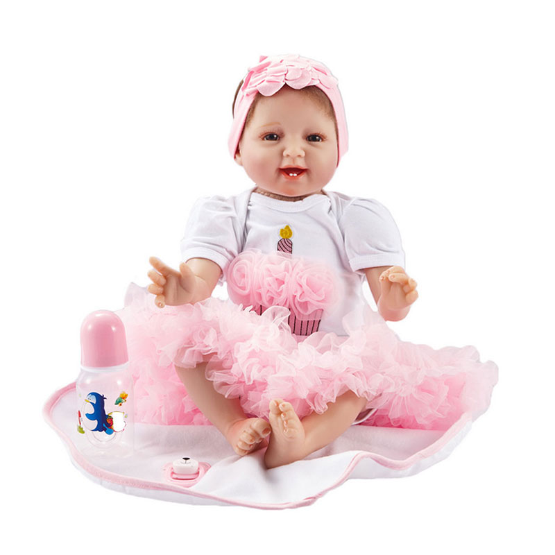 Reborn Silicone Babies Doll For Sale Children Puzzle Early Childhood Education Toys 55cm Silicone Dolls Reborn 22 Inch Doll Toy new sale 22 inch 55cm full silicone reborn doll with tiger yellow clothes playmate silicone toddler reborn babies girl dolls