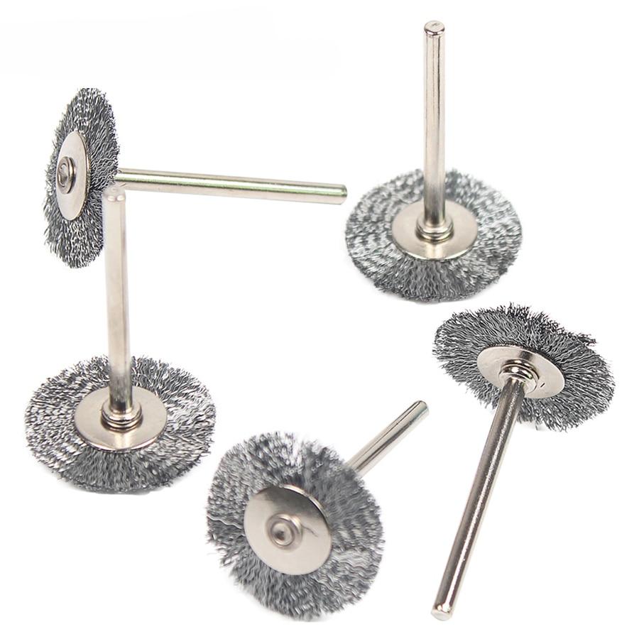 20pcs Wheel Dremel Wire Steel Brush Dremel Tools Accessories Burr Abrasive Head