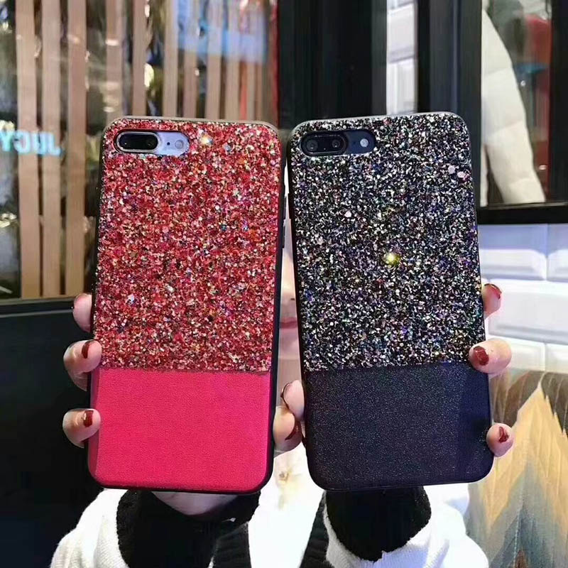 Luxury Fashion girl Glitter Case for Apple iPhone 6 6S 7 8 Plus X TPU Soft silicone Phone Back Cover Cases 7Plus 8Plus 6Plus