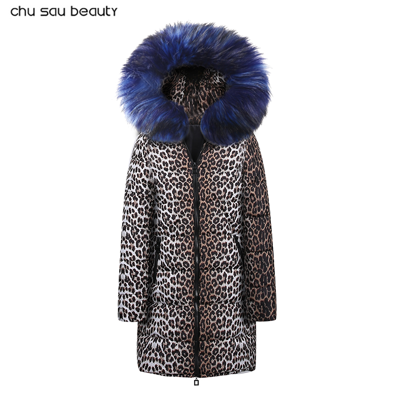 New Luxury Faux Fur Leopard Winter Jacket Down Women'S Outerwear Casaco Feminino Ropa Invierno Mujer   parka   down jacket women