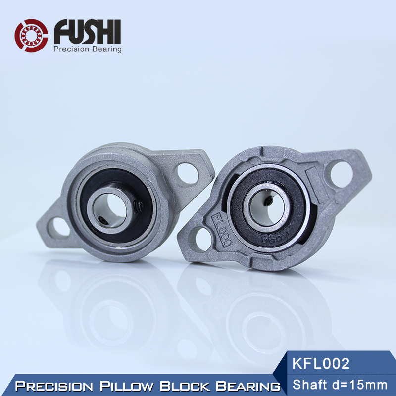 <font><b>KFL002</b></font> Bearing 15 mm Shaft Diameter ( 10 Pcs ) KFL Zinc Alloy Pillow Block Flange Block Bearings <font><b>KFL002</b></font> FL002 image