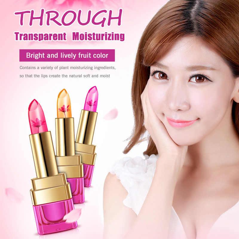 4G Bioaqua Fashion Berwarna Hitam Krisan Jelly Lipstik Tahan Air Pelembab Tahan Lama Berubah Suhu Lip Balm