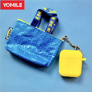 Luxury Mini Bag Coin Purse Soft Silicone Cases For Apple AirPods Pro Skin Earphone Pouch Bluetooth Air Pods 3 2 Cover Protection(China)