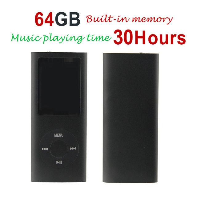 HOT 9 Color New Slim 64GB 1.8 LCD 4th Gen Mp4 FM Radio Video Player Music +Case +Earphone+ USB