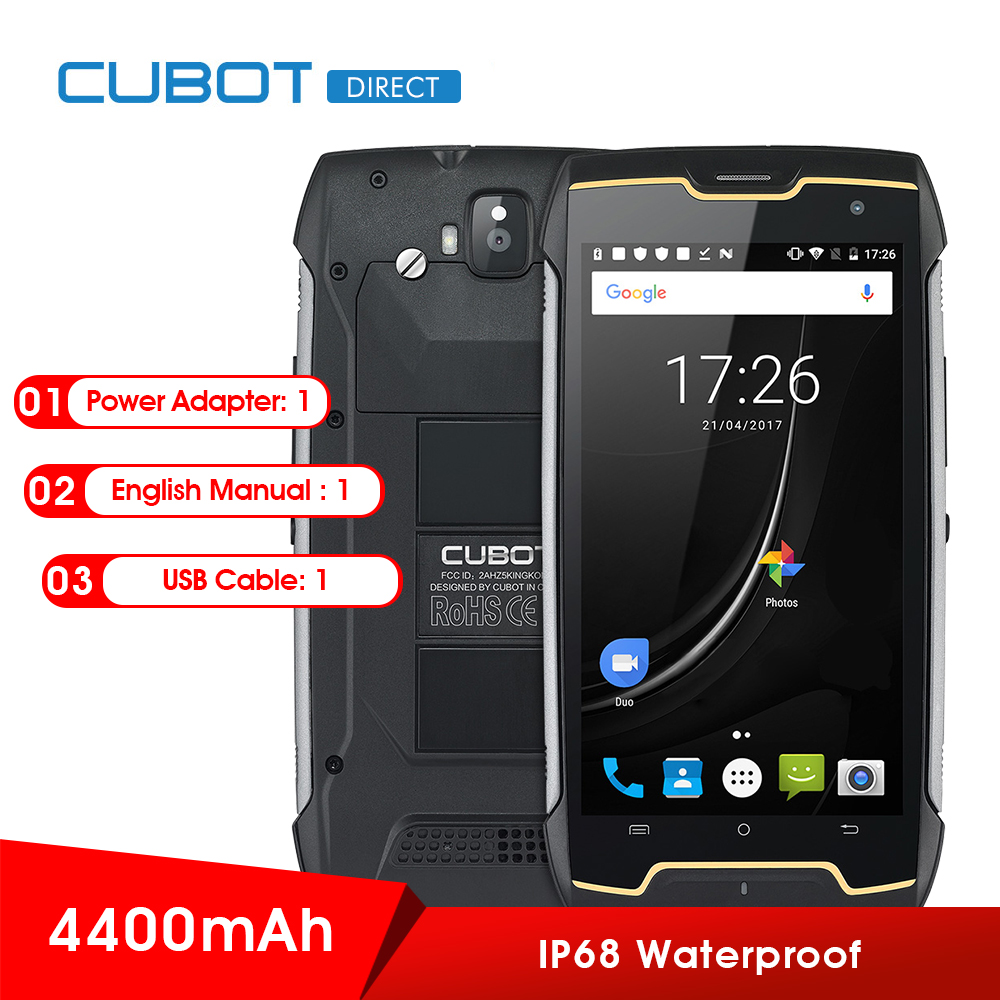 Original CUBOT Kingkong 3g Smartphone Android7.0 IP67Waterproof 5,0 zoll MTK6580 Quad Core1.3GHz 2 gb RAM 16 gb ROM 4400 mah Batterie