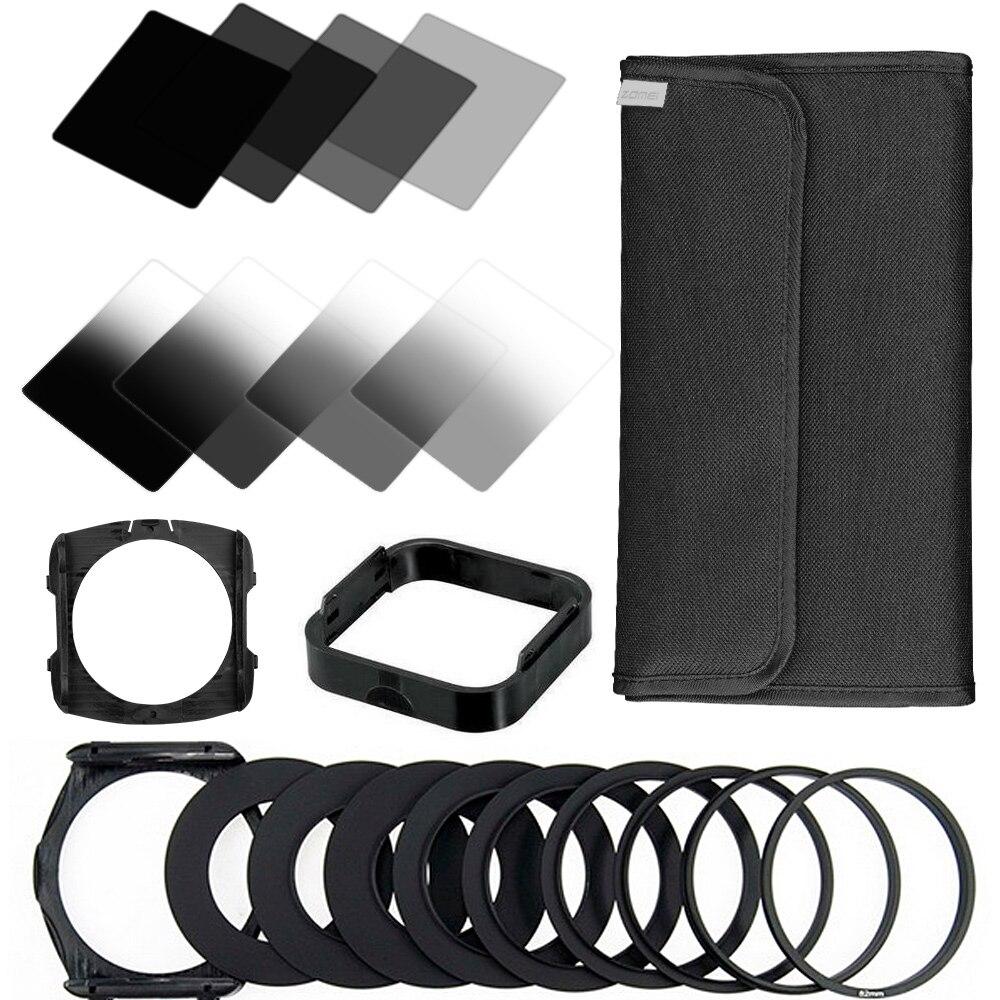 Zomei 22 IN1 gradient neutral density gradual nd Kit de filtros para cokin Serie P set para DSLR Objetivos para cámaras