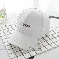 European style personality chain iron ring baseball cap joker students Korean version of curved eave cap children summer sun hat