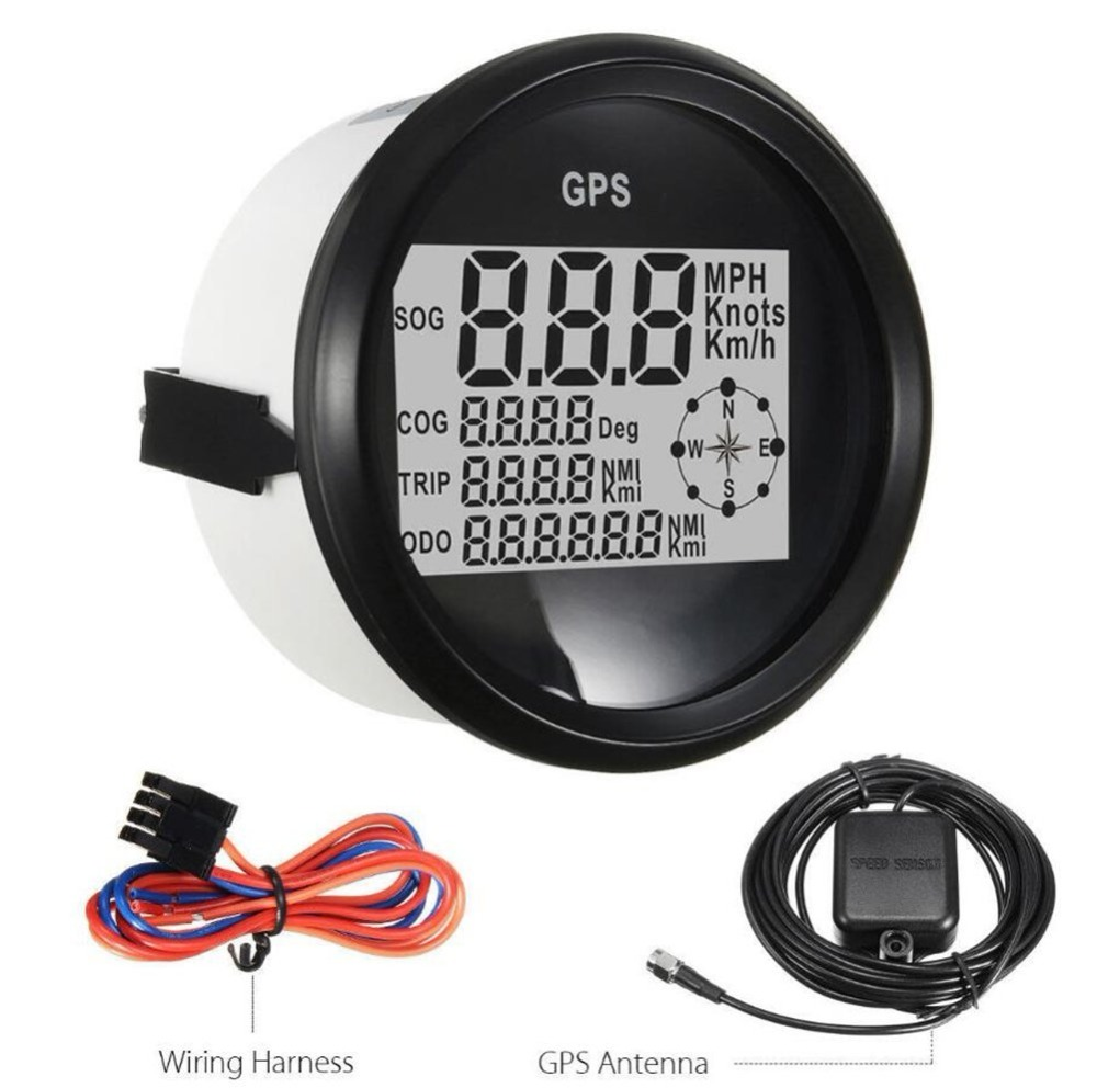 On Sale 85mm Universal Digital Gps Speedometers Odometer 0 999 Car Boat Wiring Harness Truck Motorcycle Yacht Tuning Meters 9 32v In From Automobiles