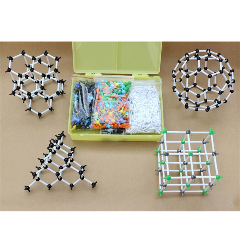 ZX1012A Miniature Ball-tube Model of The Molecular Crystal Structure Model for Chemistry Teacher and Students Chemistry Molecule molecular model kit lz 23177 chemistry organic molecule structure models set student and teacher estuches school free shipping