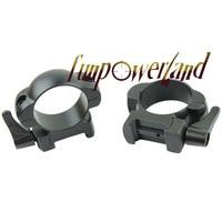 Funpowerland Weaver 30 MM Perfil Médio Preto Rápido Destaca Montar Anéis