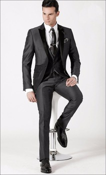 Tailor Made Groom Tuxedos Blazer Best Man Suits Wedding Party Prom Groomsman 3 Piece Suits C259
