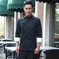 2016 inverno estilo japão uniforme do cozinheiro chefe cozinheiro chefe japonês kimono serviço restaurante desgaste do trabalho roupa de trabalho uniforme ferramental chefe jack