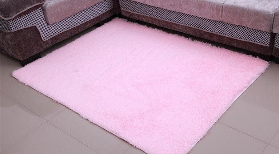 light pinkhot pink 140x200cm antiskid soft fluffy shaggy home area rug dining