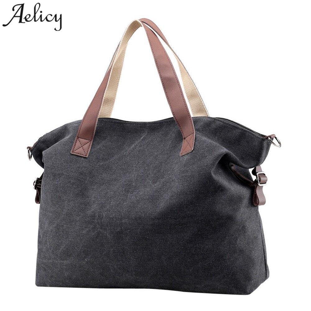 Light  Girls Canvas Crossbody Bags Vintage Canvas Tote Handbags Big Bag