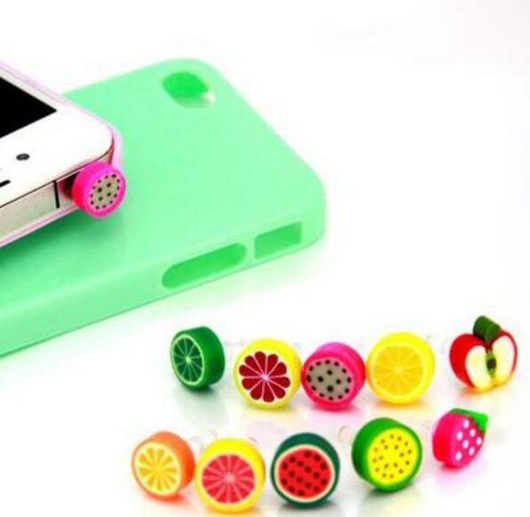 Fruit Dust Plug Dust Cap For Iphone Samsung 3.5mm Universal