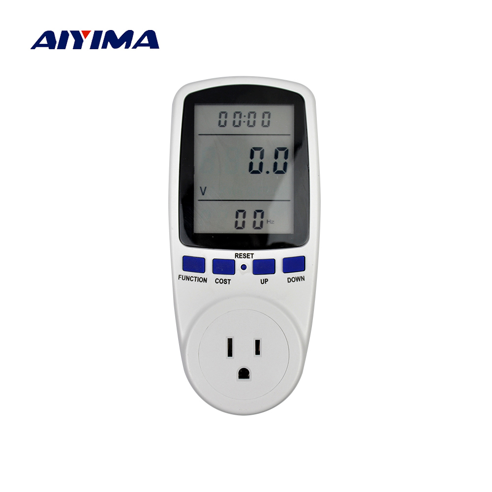 Aiyima Plug-in Power Consumption Meter Energy Electricity Usage Watt Calculator Monitor Free Shipping подушка printio 10 лет