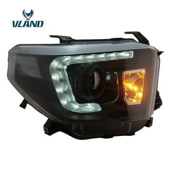 VLAND Factory For Car Head Lamp For Tundra LED Headlight 2014 2016 Tundra Head Light With Day Light And H7 Xenon Lamp