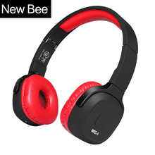 New Bee  Wireless Bluetooth Headphones Hifi Sport Bluetooth Headset with Pedometer App Mic NFC for ecouteur iphone