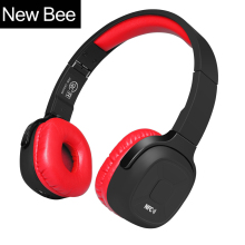 New Bee  Wireless Bluetooth Headphones Hifi Sport Bluetooth Headset with Stand Case Pedometer App Mic NFC for Computer Iphone