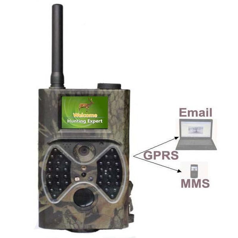 (1set)3G/GPRS/MMS Digital Infrared Trail Camera With 1080P HD Video Clips & High Sensitive Passive Infrared (PIR) Motion Sensor