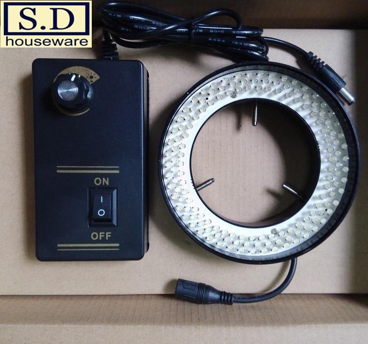Видео микроскоп освещение LED-72mm белый свет Регулируемая яркость объектив световая машина видение Большая диафрагма круговое кольцо
