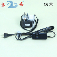 60w stepless speed adjustment Shaded pole Asynchronous motor 220v 50hz with regulator CE