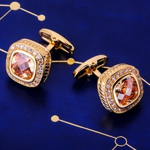 MAISHENOU Brand cufflinks Buttons with Crystal High Quality
