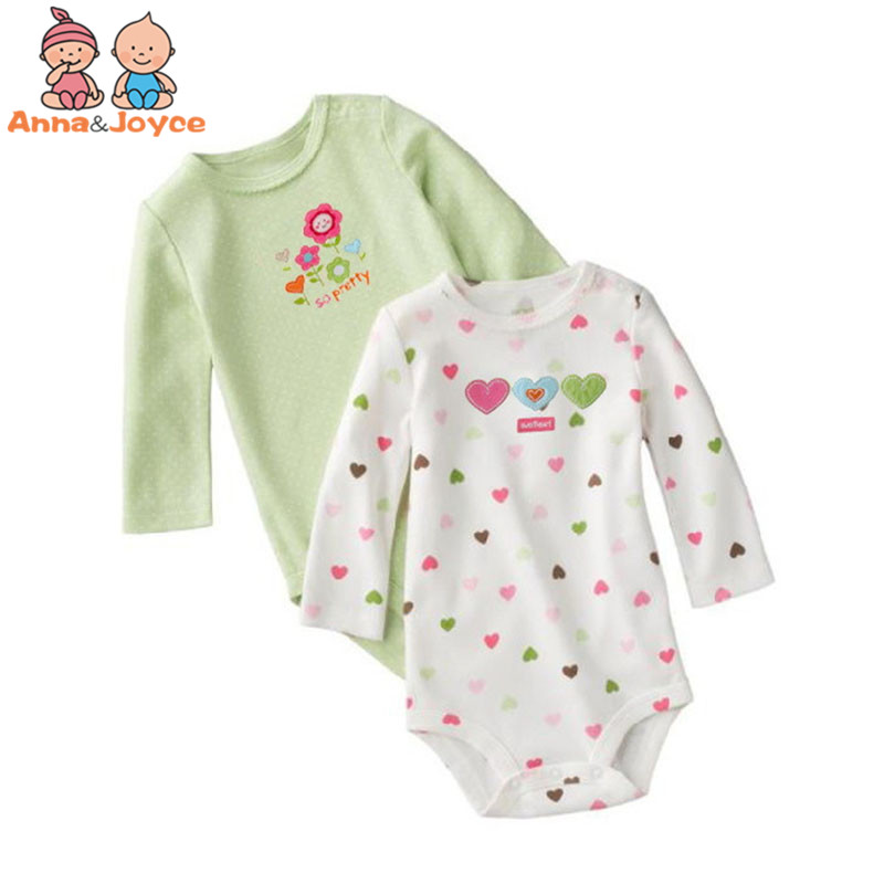 1 Pc Baby Triangle Climbing Clothing 0-24 Months Baby Boys Girls Cotton Cartoon Rompers
