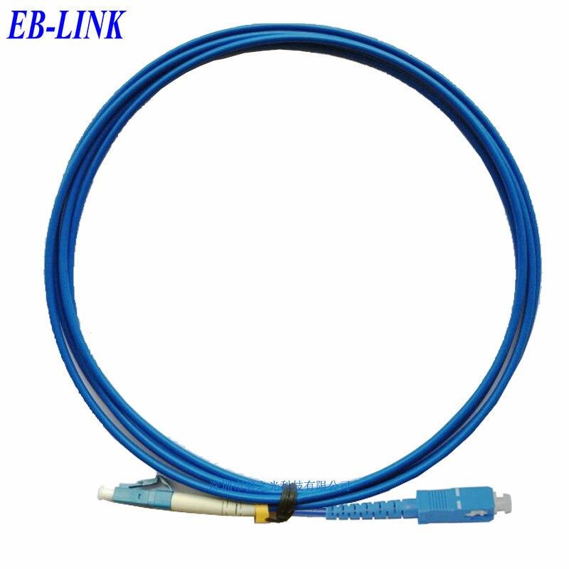 Крытый бронированный 40 м LC / PC-SC / pc, 3.0 мм, одномодовый 9/125, симплекс, оптическое волокно патч-корд кабель, LC для SC