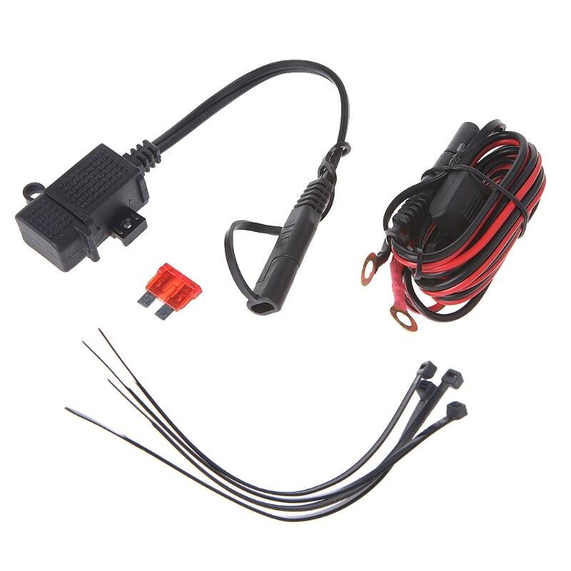 Neue Motorrad 2.1A Wasserdichte USB Ladegerät Kit SAE zu USB Adapter + Erweiterung Harness
