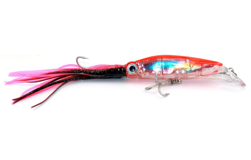 Lifelike Big Octopus Squid Jig Fishing Lure 14cm40g Hard Plastic Artificial Bait with Treble Hooks Fishing Tackle Accessories (14)