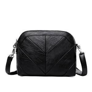 جديد المرقعة المرأة حقيقية حقائب يد جلدية صغيرة الكتف أكياس CrossBody للنساء حقيبة ساع Bolsas الأنثوية