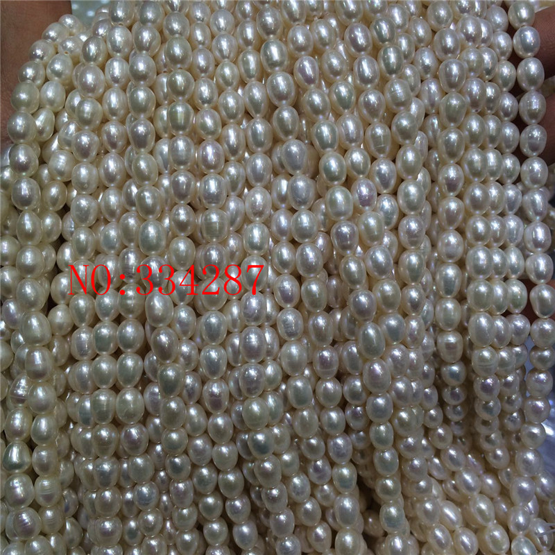 6-7mm Rice Natural Multicolor Pearl Loose Beads for Jewelry Making Strand 14/'/'